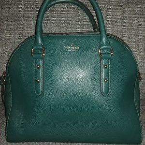Forest Green Leather Kate spade Purse